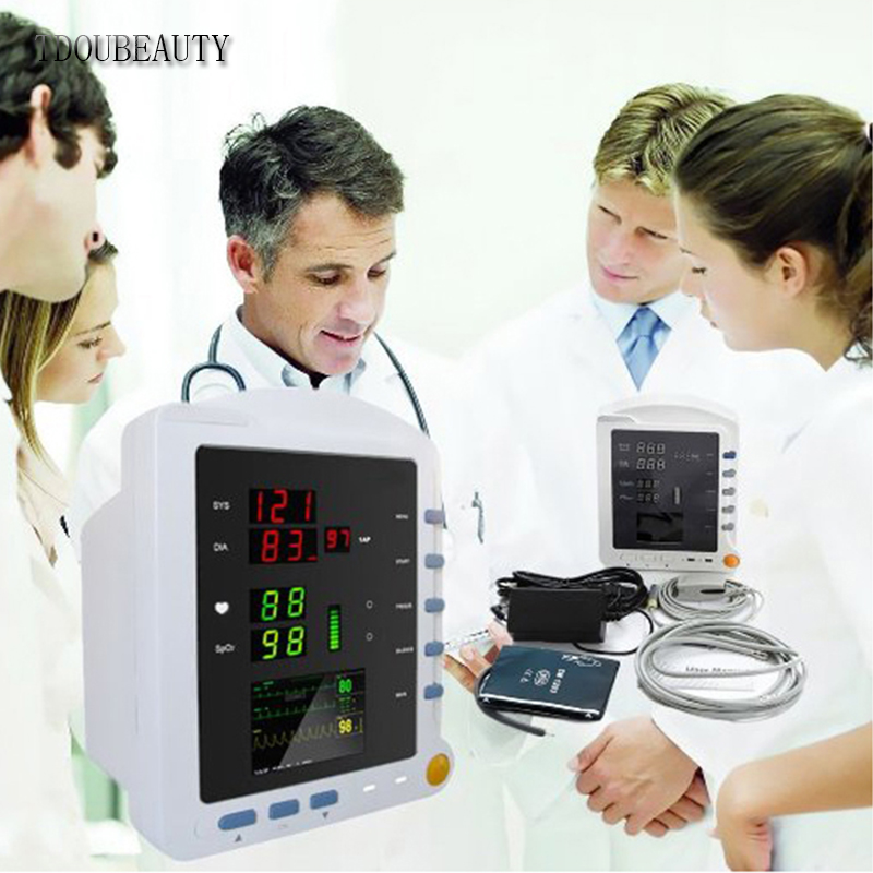CONTEC Vital Sign Portable Blood Pressure Patient Monitor Three Parameters CMS5100 By TDOUBEAUTY Free Shipping
