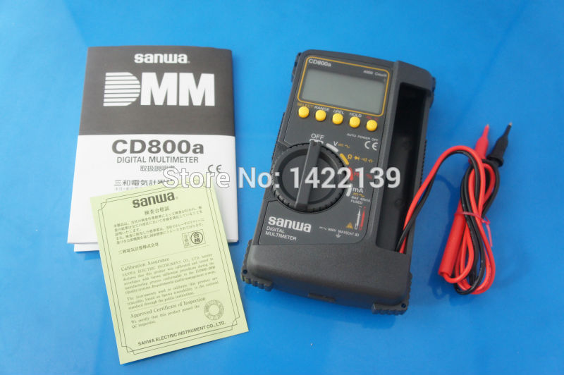 DIGITAL Multimeter CD800a DMM 600V 400mA 4000 count Volt counter tester meter NEW image