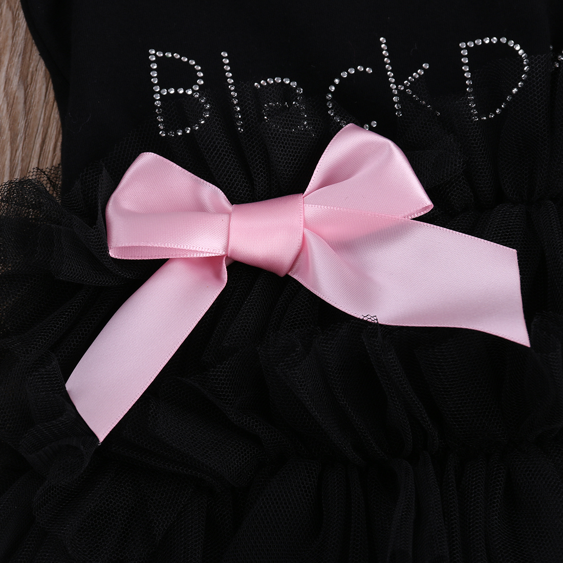 4c0ed3a6dc93c3 MY LITTER BLACK DRESS Baby Girls Clothes Lace Sleeveless Romper Ruffle Bow  tie 2017 New Summer Jumpsuit Outfits One pieces-in Rompers from Mother    Kids on ...