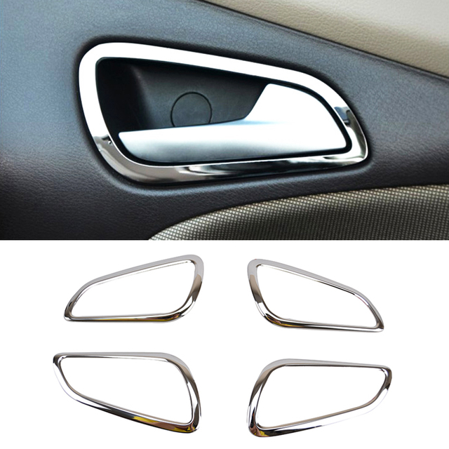 Fit for ford focus mk3 2012 2013 2014 chrome interior door handle fit for ford focus mk3 2012 2013 2014 chrome interior door handle cover bezel garnish trim planetlyrics Images