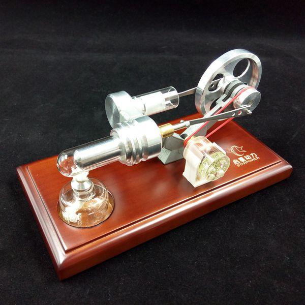 Air Motore Stirling con 4 LED Divertente Giocattolo Educativo Kit Generatore di Energia Modello-in Kit di modellismo da Giocattoli e hobby su  Gruppo 3