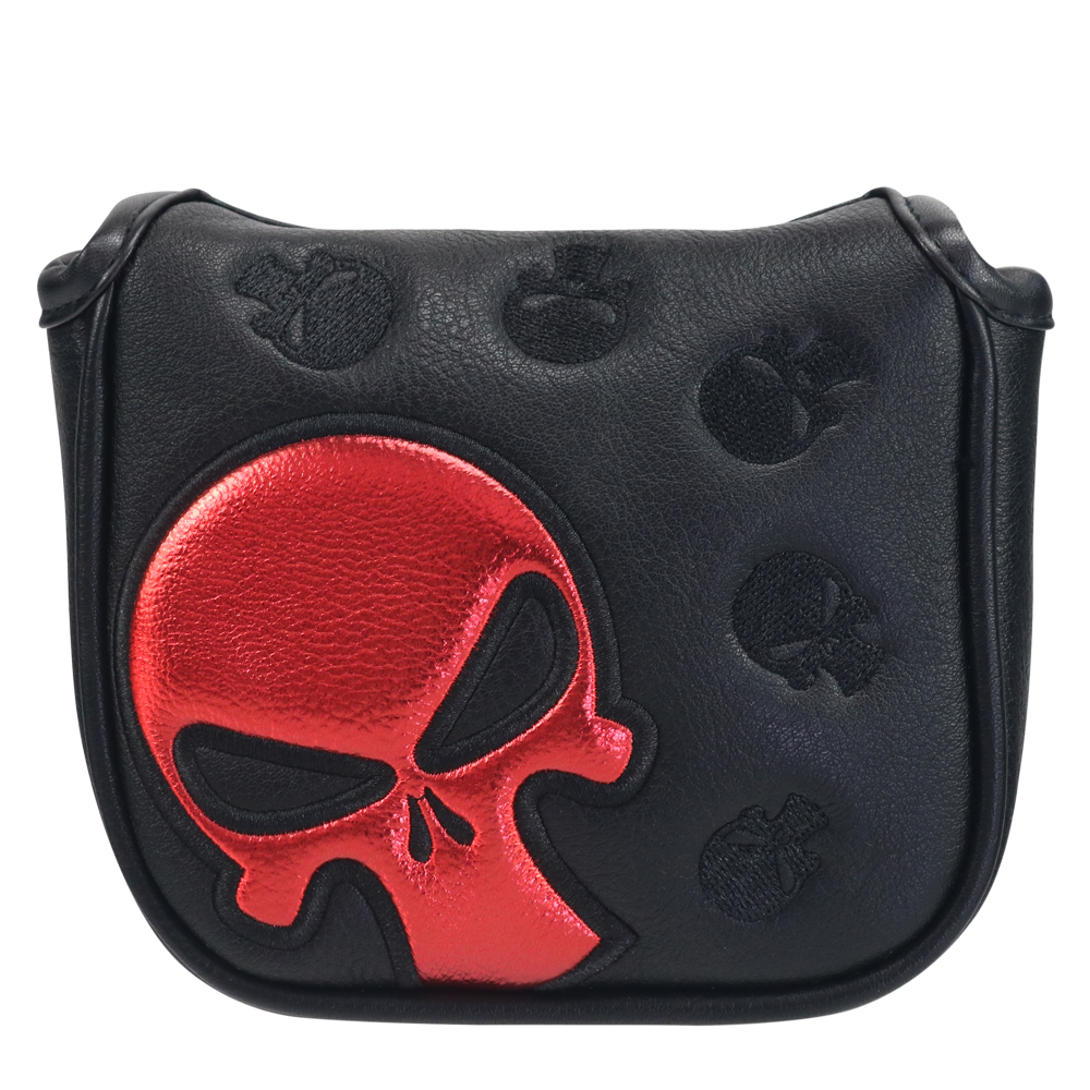 Craftsman Golf Square Mallet Putter Cover Red Skull Magnetic Mallet HeadCover Cover Free Shipping