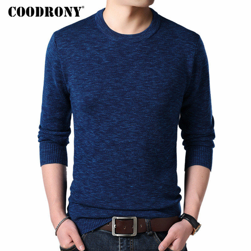 COODRONY Cashmere Sweater Men Clothes 2018 Autumn Winter Thick Warm Wool Pullover Men Casual O-Neck Pull Homme Mens Sweaters 143