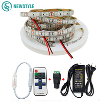 5m SMD5050 LED Grow Light Red Blue Aquarium Plant LED Light DC12V Flexible LED Strip +Remote Controller +Power Supply