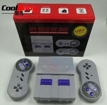 DHL Mini Handheld TV Video Game Console Dual 2.4G Wireless Game Controller Retro Game Player Built-in 500 Classic Games for SNES