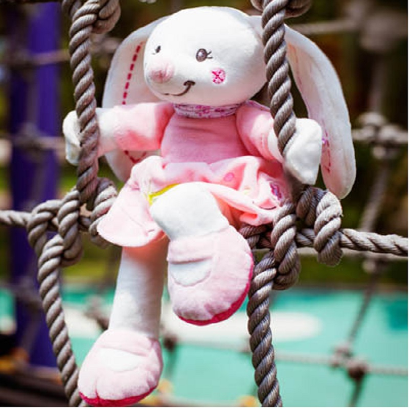 30*20cm New Arrival Soft Pink Rabbit Baby Ratlle Plush Toys Sleeping Comforting  Dolls for Gilrs Baby Dolls 2015 new arrival big clock plush toys baby toys hand toys cartoon toys wj191