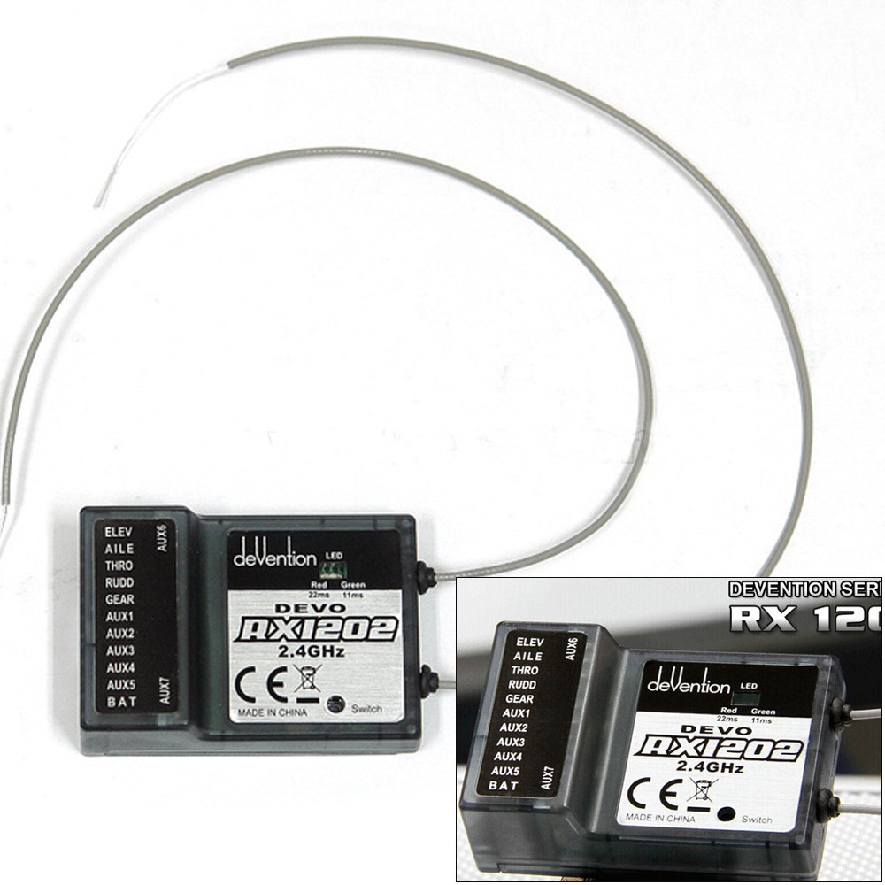 1pcs Walkera DEVO RX1202 12 Channel Receiver 2.4Ghz 12CH For Walkera DEVO Transmitter walkera devo f12e specialized fpv 32 channel telemetry radio 5 8ghz 12 channel lcd screen free ship