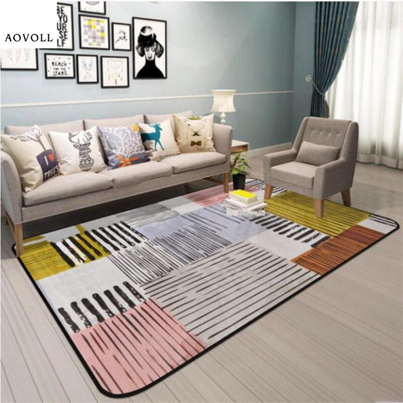 AOVOLL doux enfant tapis pour salon chambre enfant chambre tapis maison tapis plancher porte tapis Style nordique grand mode zone tapis
