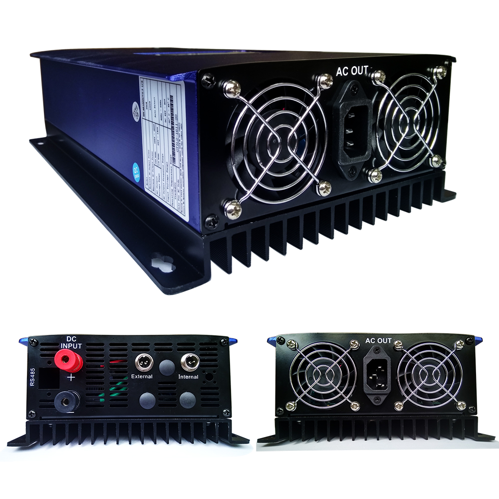 MAYLAR 2000W Pure Sine Wave Solar Grid Tie Power Inverter With Limiter Sensor MPPT Function DC 45-90V AC 220V maylar 3 phase input45 90v 1000w wind grid tie pure sine wave inverter for 3 phase 48v 1000wind turbine no need extra controller