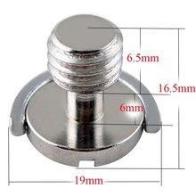 Kaliou 1 sztuk płyta szybkiego montażu 3/8 śruba precyzja pierścień w kształcie litery D C pierścień śruba dla statyw kamery Photo Studio akcesoria