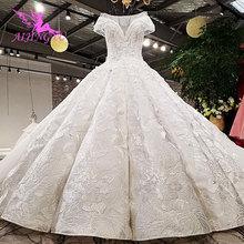 AIJINGYU пышные платья, свадебное платье, атласное свадебное платье с оборками, индийское белое средневековое свадебное платье онлайн