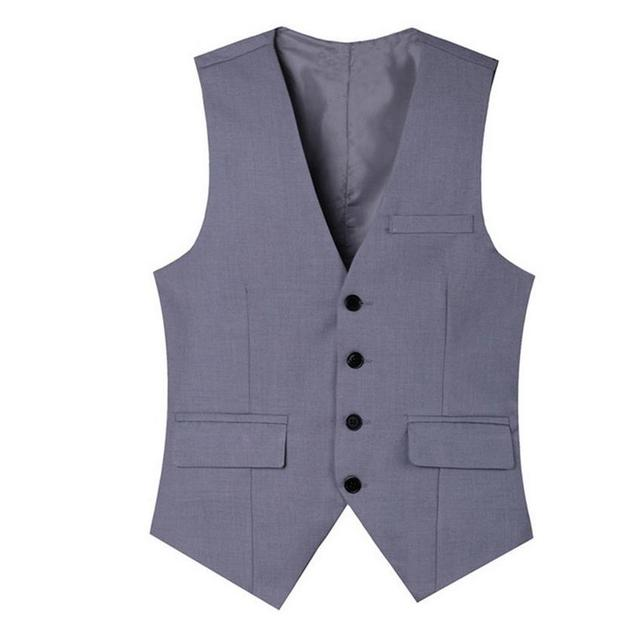 Light Grey Suit Vest Mens Wedding Waistcoat V-Neck Black Cotton Jacket Sleeveless British Clothing Gilet New Arrival Colete XXXL