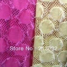 Южная Корея плюшевые ткани хлопок кружева швейцарский гриддинг шторы ткань Лоскутная Ткань высокого качества шторы мех Войлок абрикс