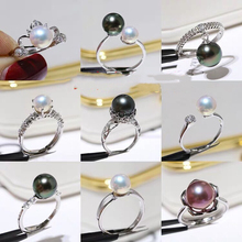 HOT PROMOTION Ring Mountings Base Findings Adjustable Ring Jewelry Set Parts Fittings for Akoya Edison Pearls Jade Coral Beads