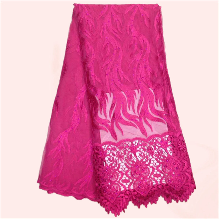 Mode dame kleid material Französisch tüll stoff mit stickerei schnur ...