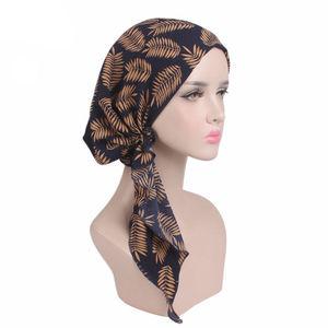 Image 4 - ผู้หญิงยืดBonnetมุสลิมTurbanหมวกBeanie Skullies Headscarf Wrap Chemo Ladyผ้าพันคอหมวกอิสลามหมวกสูญเสียผม