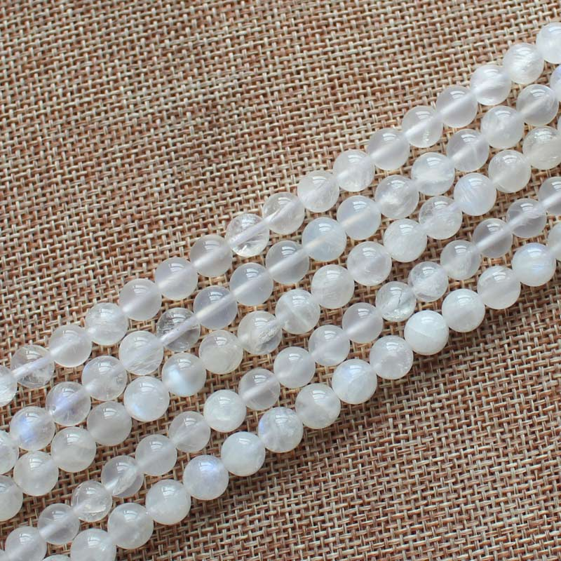 Wholesale Natural Rainbow Moonstone 8-14mm Round Loose Beads 15
