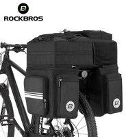 ROCKBROS 3 In 1 Waterproof Bicycle Bags Pannier 48L MTB Mountain Bike Rack Bag Bicycle Rear