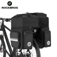 ROCKBROS 3 in 1 Waterproof Bicycle Bags Pannier 48L MTB Mountain Bike Rack Bag Bicycle Rear Seat Trunk Bag With Rain Cover