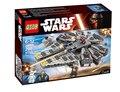 2016 Nuevas Llegadas LEPIN Star Wars Halcón Milenario de Los Bloques Huecos Modelo Kit Edificable Figuras Compatible Legoe Starwars juguete