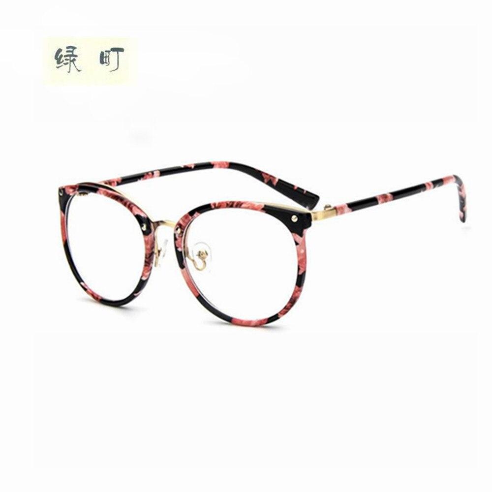 brand womens optical glasses frame women eyeglasses large metal optical frame clear