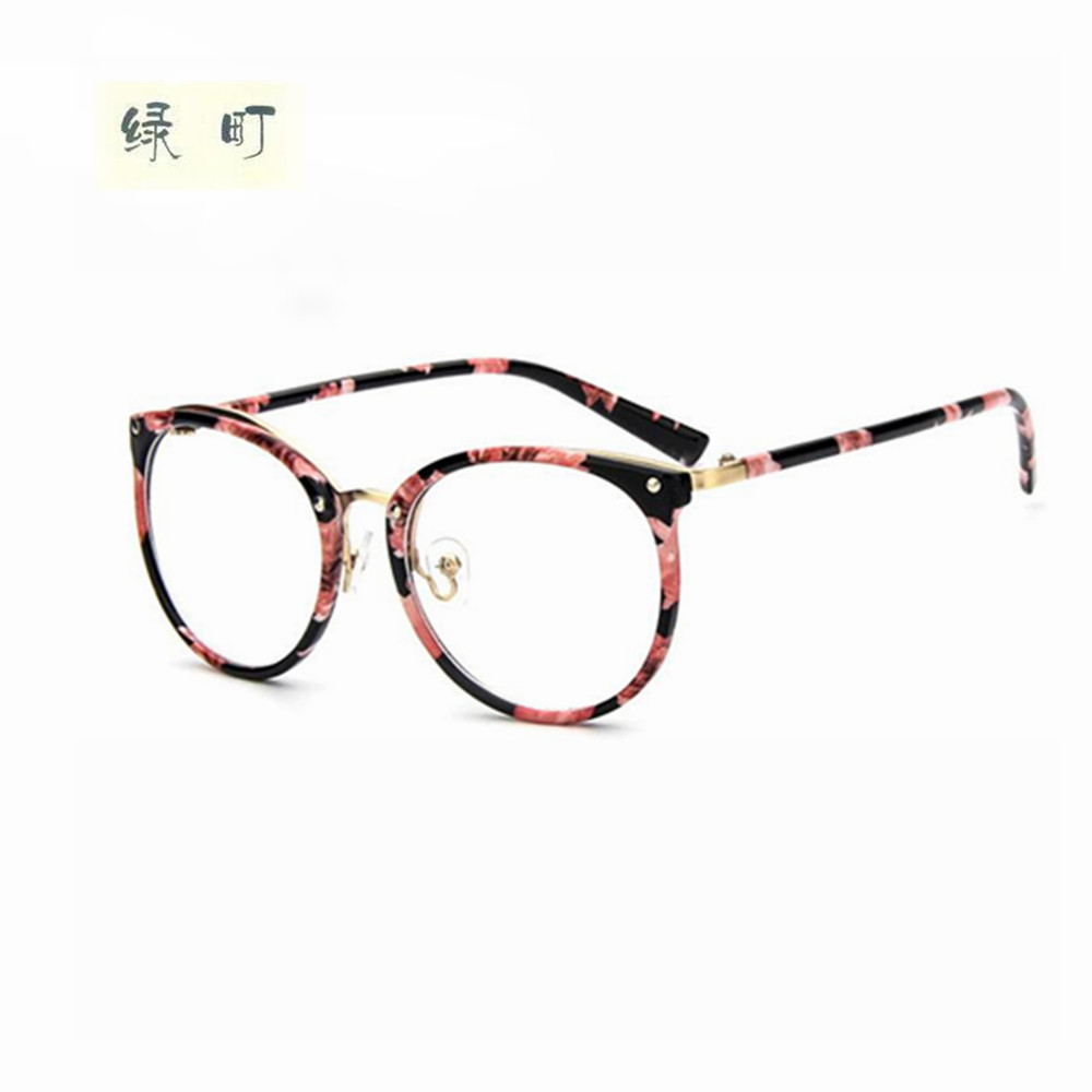 brand womens optical glasses frame women eyeglasses large metal optical frame clear