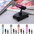 3.5mm Fashion Portable Mini Microphone Stereo Condenser Mic for iPhone IOS Android Smartphone PC Laptop Chatting Singing Karaoke