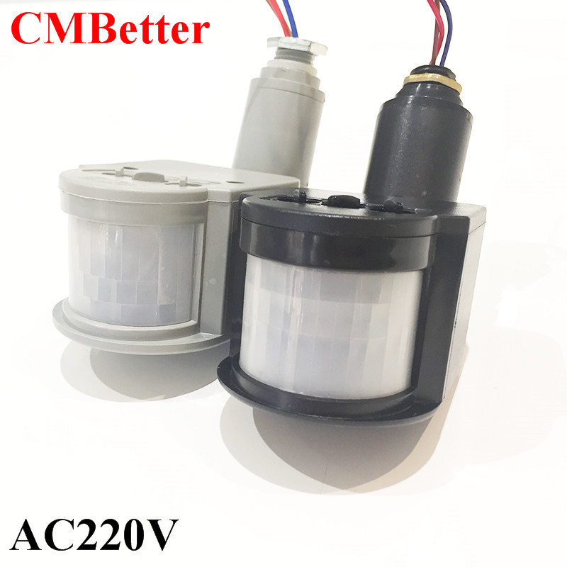 CMBetter AC 220V Automatic PIR Motion Sensor Switch for LED Light Light Switch Indoor Infrared PIR Motion Sensor IP44 indoor led light pir infrared motion sensor switch human body induction save energy with antenna light sensor wholesale pri 100a