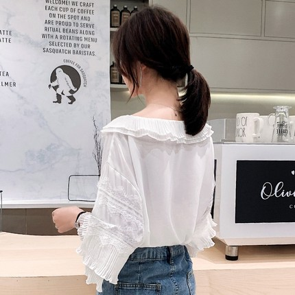 2XL Womens Shirts Ladies V Neck Blouses White Chiffon Top Office Long Sleeve Blouse Womens Clothing Beach Kimono in Blouses amp Shirts from Women 39 s Clothing