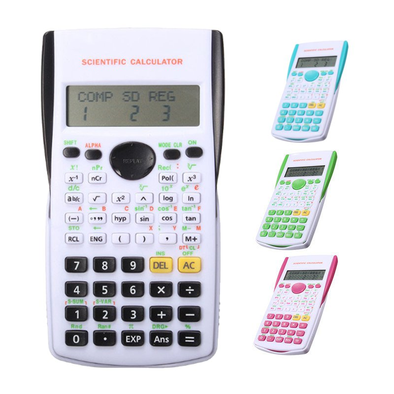 Scientific Electronic Calculator Portable Multifunctional 12 Digital Counter Office Home Students Function Supplies