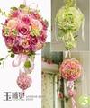Colorido 25 cm Bola Color de Rosa De Flores de Seda Artificial de Alta Calidad Inicio/Fiesta/Ocasión Especial Decoración Del Partido Proveedores