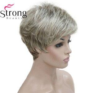 Image 3 - باروكات شعر مستعار كاملة من الشعر الطبيعي الأملس قصير بشقراء وأذنين وأذنين