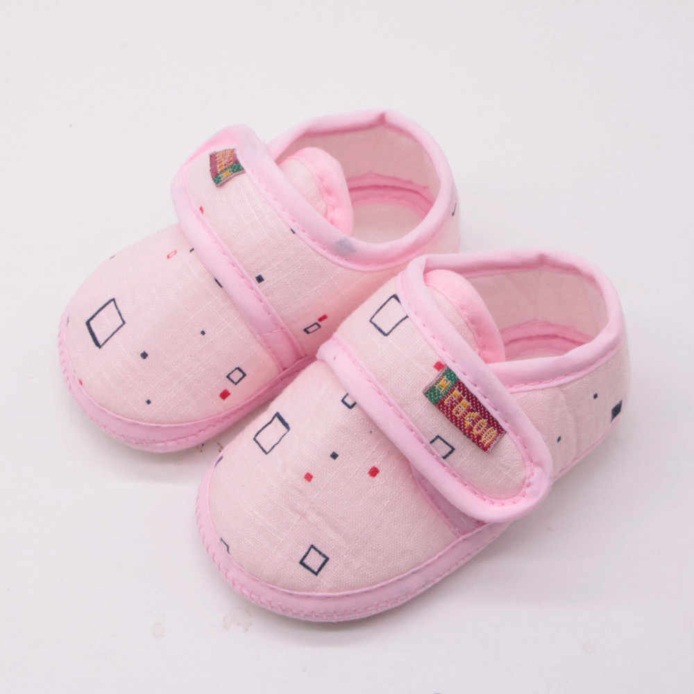 Newborn Crib Shoes Newborn Fashion Shoes Baby Girl Boy Soft Shoes Soled Non Slip Block Print Footwear Crib Shoes Buciki Dla Niemowlat1 475