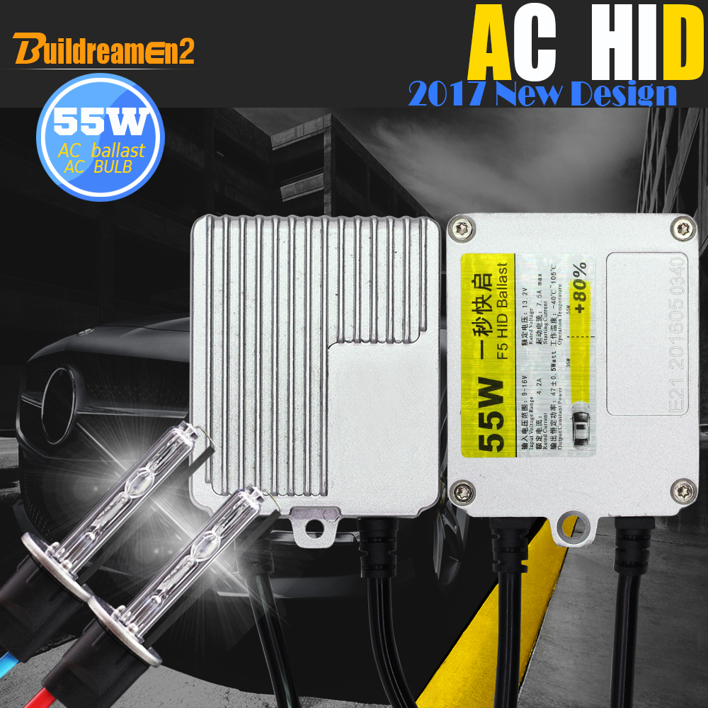 Buildreamen2 H1 H3 H7 H8 H9 H11 9005 HB3 9006 880 881 55W Car Light Headlight HID Xenon Kit 8000K Canbus Adapter AC Ballast Lamp buildreamen2 55w 9005 9006 h1 h3 h7 h8 h9 h11 880 881 hid xenon kit ac ballast bulb 10000k blue car headlight lamp fog light