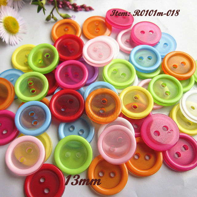 Baby buttons 100pcs 13mm mixed Candy color resin buttons for sewing  scrapbooking diy craft decorative accessories-in Buttons from Home   Garden  on ... 1d25816ca216