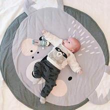 Милый мультяшный детский коврик для ползания, круглая форма, детский игровой коврик, Детский развивающий ковер, игрушки, игровые коврики