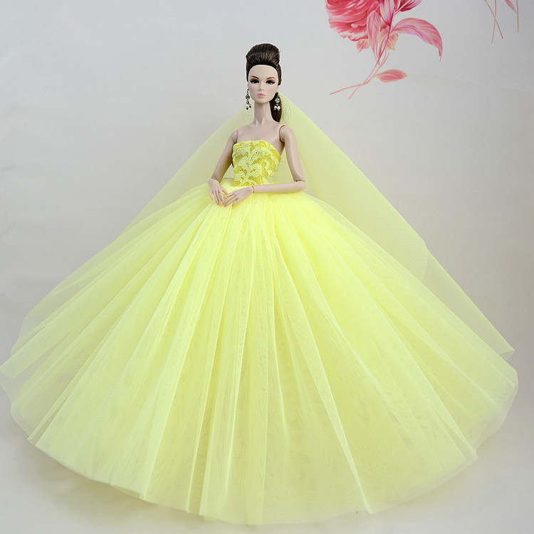 ④nk One Pcs 2018 Princess Wedding Dress Noble Party Gown For Barbie