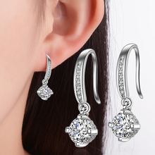 Everoyal Top Quality Silver 925 Girls Drop Earrings Jewelry Fashion Crystal Round For Women Party Accessories Female