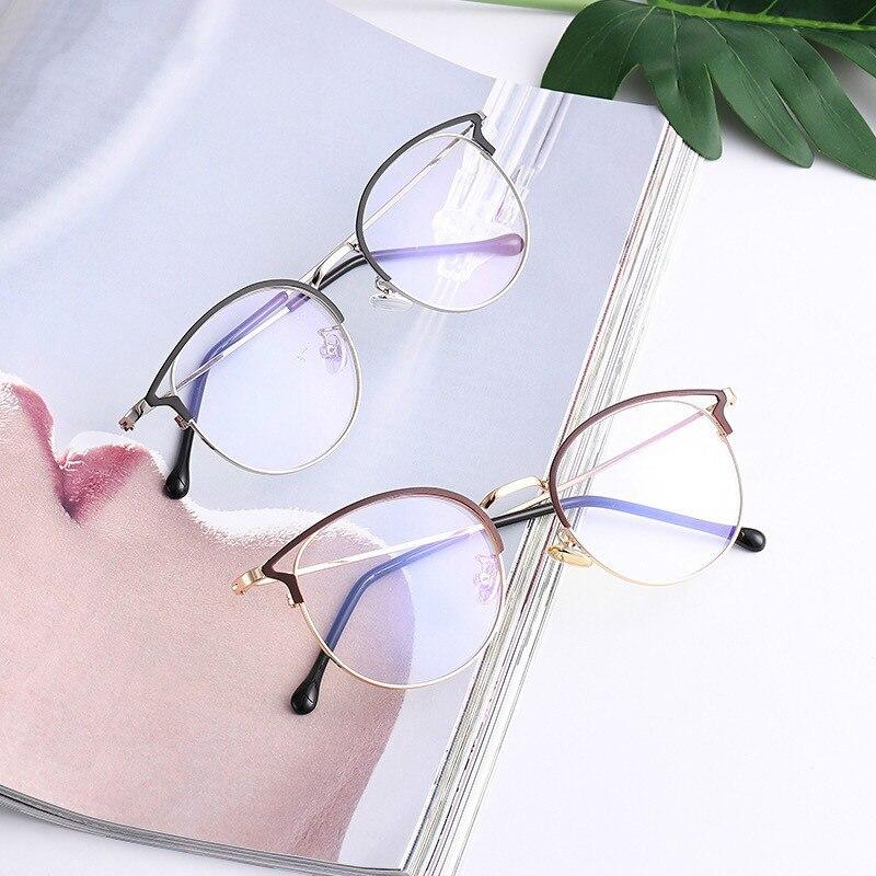 NEW Women's Blue Light Blocking Computer Glasses Cat Eye Anti Blue Rays Eyeglasses Female Plain Mirror Glasses Frame Eyewear