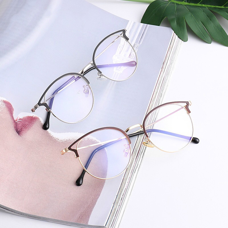 NEW Women's Blue Light Blocking Computer Glasses Cat Eye Anti Blue Rays Eyeglasses Female Plain Mirror Glasses Frame Eyewear