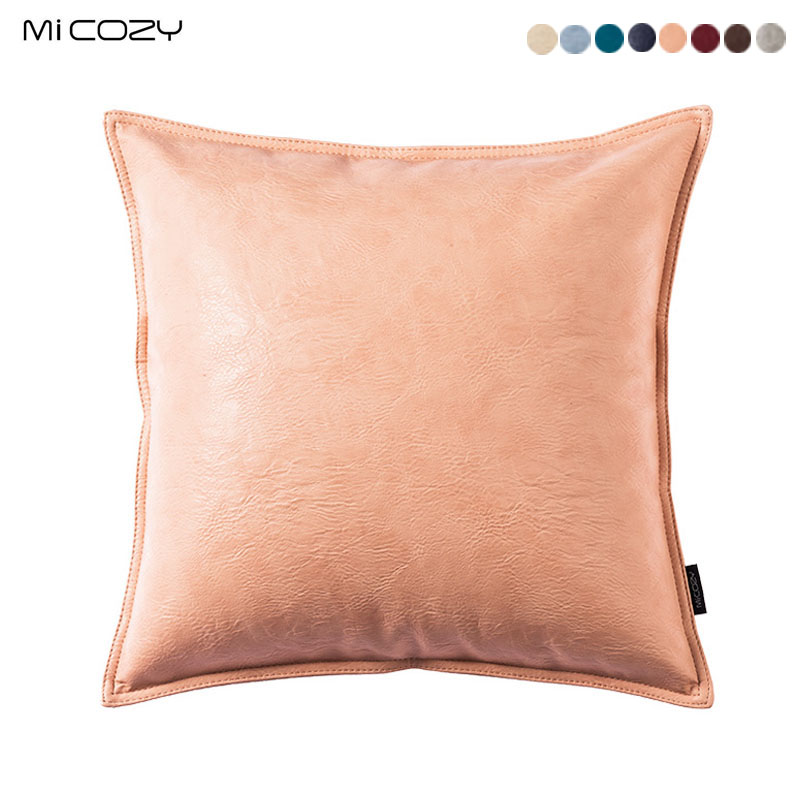 Home Decorative Soft PU Leather Throw Pillow Case Cushion Cover With Zipper,30,45,50cm