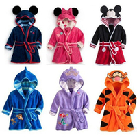 BFORTUNE Children Clothes Girls Boys Kids Cloth Minnie Mickey Soft Velvet Bathrobe Toddler Girl Boy Clothes Unisex Robe Pajamas