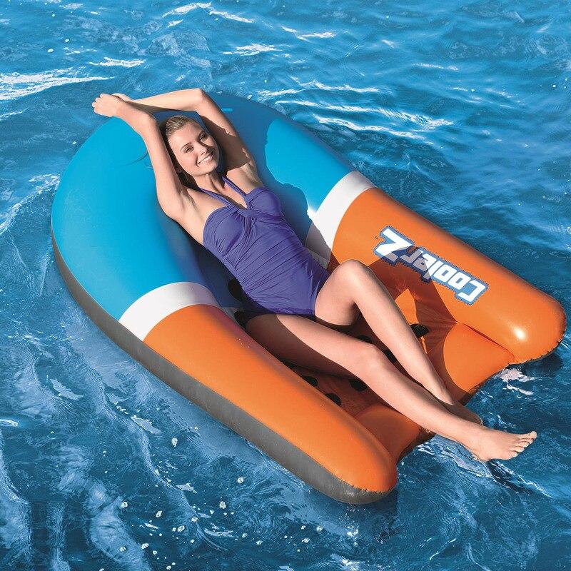165 cm gonflable Lie-on piscine flotteur natation matelas lit d'eau dossier flottant radeau pour adultes enfants piscine plage jouet surf bateau