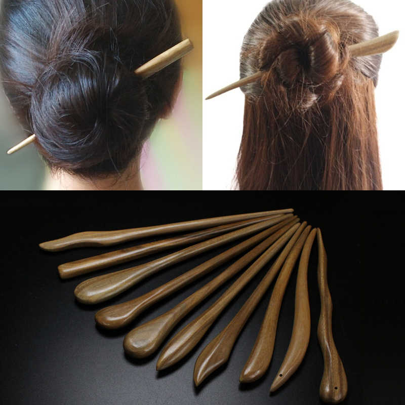 Vintage Top Quality Hair Stick Pick Natural Wooden Sandalwood Handmade Ethnic Hairpin Hot Fashion Chinese Style Hairpins