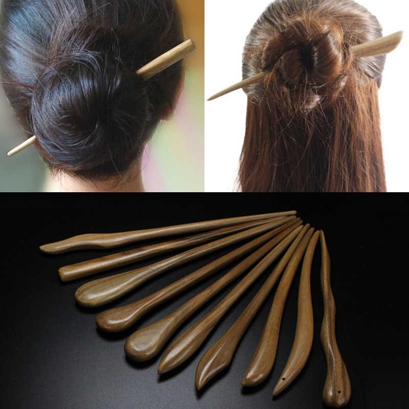 U-shaped Vintage Ebony Hairpin Woman Girl Sandalwood Hair Stick Accessories