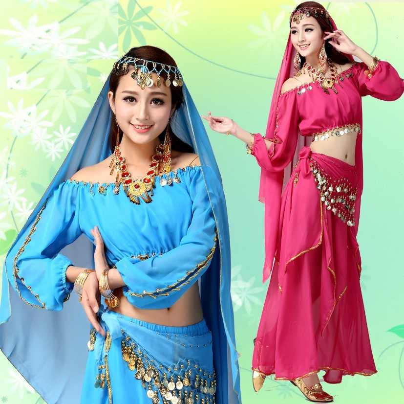 Bauchtanz kostüm set bauchtanz 2017 professionelle bollywood kostüme frauen röcke plus größe erwachsene indische kleider für tänze