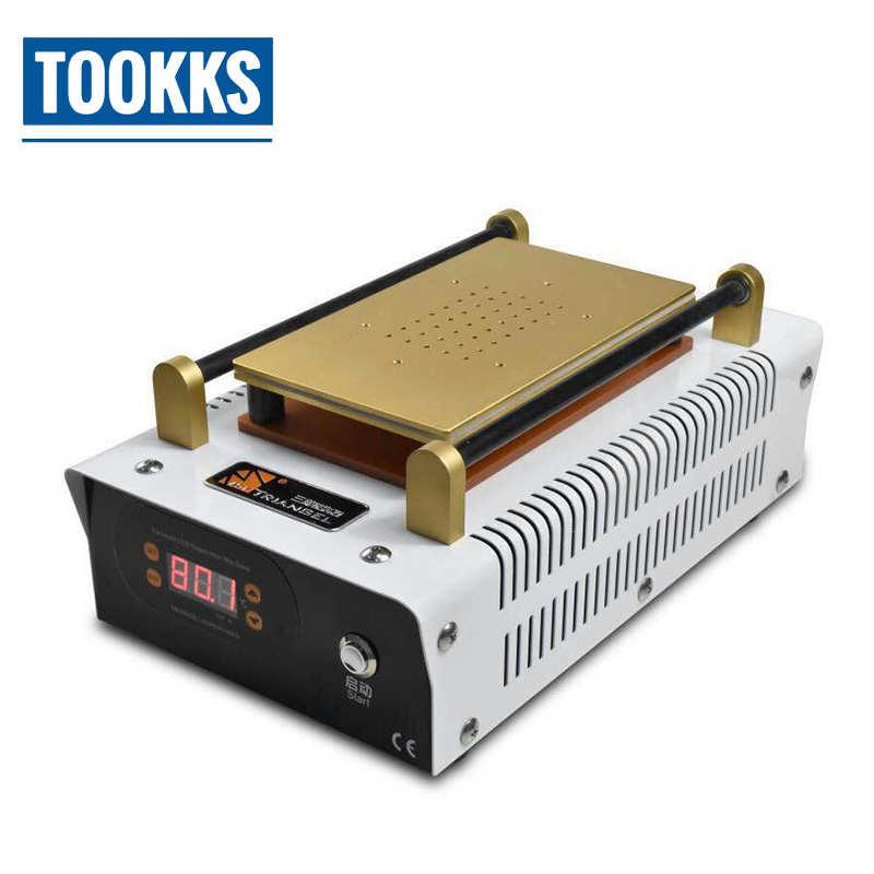 Separador de pantalla LCD eléctrico de 7 pulgadas con bomba de vacío integrada y placa caliente de acero inoxidable para reparación de teléfonos móviles
