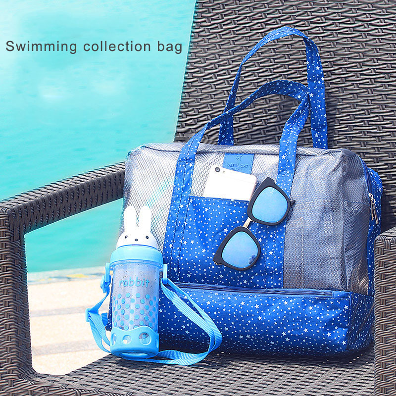 Women Swimming Bag Female Waterproof Swimsuit Bags Nylon Wet And Dry Transparent Swimwear Pool Beach Pouch Collection Bag