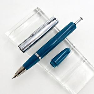 Image 5 - Wing Sung 601a 0.5mm Fine Nib Vacumatic Fountain Pen Metal+ABS Body Silver Cap