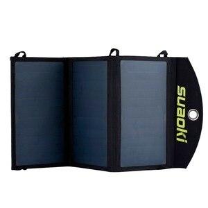 Image 5 - Suaoki 20 w carregador de painel solar de alta eficiência portátil bateria dupla saída usb easycarry dobrável células solares ao ar livre